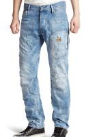 G-Star Raw 5620 Biker 3D It Aged Blue Jeans Mens UK W30 L32 *REF37-20