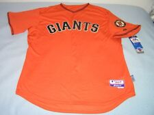 San Francisco Giants Orange Majestic Cool Base Authentic Jersey size 52 (2XL)