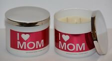 2 Bath & Body Works I Love Mom Happy Mother Day Scented 3 WICK Candle 14.5oz NEW