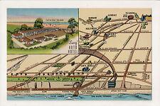 Santa Monica California Surf Auto Hotel Curt Teich Linen Postcard 1712 Ocean Ave