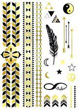 *ON SALE* Glorious Metallic Gold Temporary Tattoo A5 Set