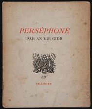 GIDE, André - Perséphone - Paris 1934 - Édition originale.