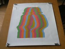 "Print / Silk Screen Signed Yasu Ihara ? Titled Renee Six Color Rainbow 24"" x 30"""