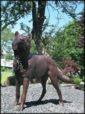 Bronzeskulptur, Hund, Wolf, Dekoration für Haus und Garten
