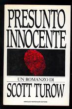 TUROW SCOTT PRESUNTO INNOCENTE MONDADORI 1987 OMNIBUS