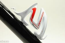 Cannondale C-Cage Composite Water Bottle Cage White/Red 40 Grams