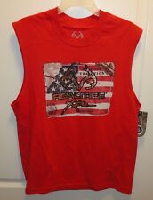 Brand New Mens Realtree Xtra American Tradition Flag Red Sleeveless T-Shirt sz L