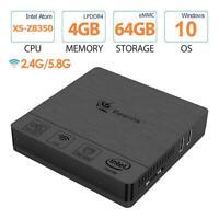 Beelink BT3 Pro II Mini PC Win10 Intel Atom Quad Core 4+64GB 2.4/5.8GHz Wifi BT