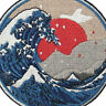 Badge Sew On off Patches transfers Embroidered Kanagawa applique Wave Patch Iron