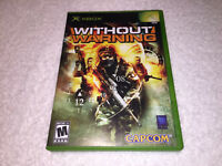 Without Warning (Microsoft Xbox, 2005) Capcom Original Release Complete Exc!