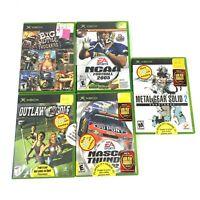Xbox 5 Games - Football Big Mutha Trucks Metal Gear Solid 2 Nascar Outlaw Golf