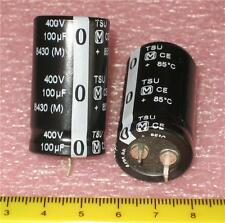 100uF 100 uF 400v Snap-in Radial Electrolytic Capacitors ( 4 pcs ) *** NEW ***
