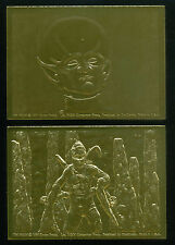 """The OUTER LIMITS (DuoCards/1997) Complete """"GOLD EMBOSSED"""" Chase Card Set of 2"""