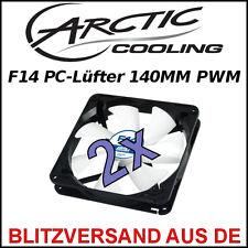 2x [Arctic Cooling™] F14 140mm PWM Gehäuse-Lüfter/Fan → Case 14cm PC Kühler