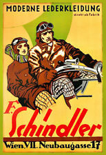 Schindler Leather Clothing Motorcycle Motorbike Bike  Poster Print