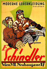 Schindler Vêtements En Cuir Moto Motocross Poster Print