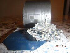 "Swarovski Silver Crystal Vintage ""Snowflake Floral Candleholder"" w/Box & Coa"