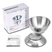5KG/1g Digitale Küchenwaage mit Schüssel Edelstahl Haushaltswaage Kitchen Scale