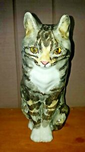 BEAUTIFUL VINTAGE WINSTANLEY ENGLAND LARGE TABBY CAT FIGURINE
