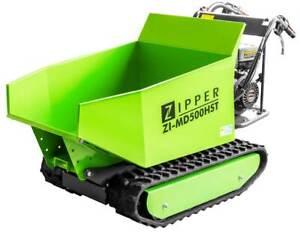 ZIPPER Raupendumper ZI-MD500HST Minidumper Ketten Dumper mit Schneeschild 9,3PS