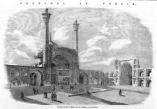 PERSIA (IRAN) Inner Court Grand Mosque at ISPAHAN - Antique Print 1857