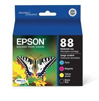 Genuine Epson 88 Ink Cartridges 4 pack in Original Bulk Packaging