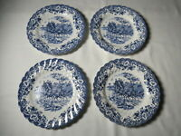 Johnson Brothers Blue Coaching Scenes Hunting Country Bread and Butter Plates 4
