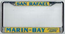 RARE San Rafael California Marin-Bay Lincoln Mercury Vintage License Plate Frame