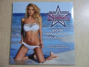 "NEW 2018 Dallas Cowboys Cheerleaders Swimsuit SEALED MINI Calendar 7""x7"""