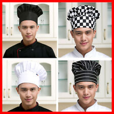 More details for catering chef hat cook restaurant kitchen elastic cap baker adjustable unisex