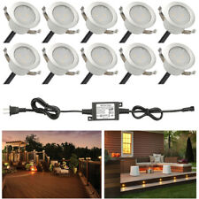 10pcs 31mm Warm White LED Deck Lights Stairs Yard Garden Landscape Pathway Lamp