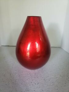 Crate Barrel Vase Red