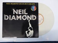 NEIL DIAMOND 20 GOLDEN GREATS VERY RARE WHITE VINYL LP HOLLAND