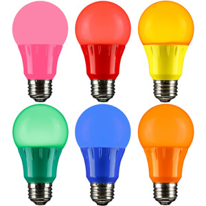 3W LED A15 COLORED LIGHT BULB, NON-DIMMABLE, E26 MEDIUM BASE, PARTY BULBS