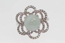 .925 Sterling  Silver / Moonstone / White Topaz Ring .