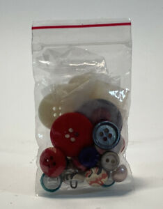 Small Bag of Assorted Size and Color Buttons Sewing Accessories