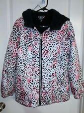 Zero Xposur Pink Leopard Puffer Jacket Girl's Hooded Zip size (Xl) 16 + bonus