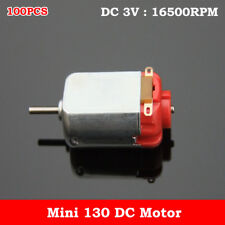 100PCS DC 3V 16500RPM High Speed Micro Mini 130 DC Motor DIY Hobby Toy Car Model