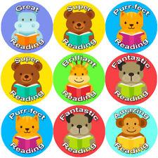 144 Reading Animals 30 mm Reward Stickers for School Teachers, Parents, Nursery
