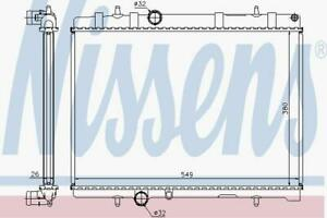 RADIATOR WATER COOLING ENGINE RADIATOR NISSENS NIS 63605A