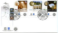 Israel 2017 FDC UNESCO World Heritage Caves Necropolis 3v Set Cover Stamps