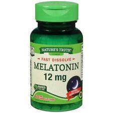 Nature's Truth Mélatonine 12 MG Rapide Dissoudre Tablettes Naturel Baie Parfum -
