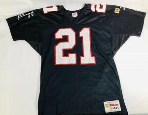 VTG 90's Atlanta Falcons Eric Metcalf Wilson Gold Label Jersey Size Large