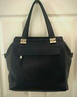 RIPANI 'Sole' Satchel Shoulder Bag Soft Black Dark Gray Italian Leather XLNTCond