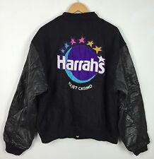 De Colección Golden Bear USA Varsity chaqueta de Letterman Harrahs Joliet Casino De Cuero UK XL