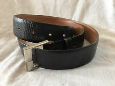 "Vintage Top Grain Leather Cowhide 1.1"" Wide Removable Belt Strap - 34 + Buckle"