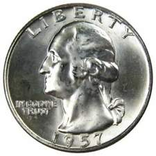 1957-D 25c Washington Silver Quarter Uncirculated Mint State