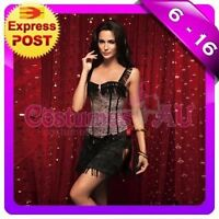 Ladies Burlesque Corset Lace up Bustier Fancy Dress Costume Party