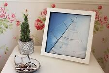 White Yacht Sail Sardinia, Italy Photograph Print (Gloss Finish)