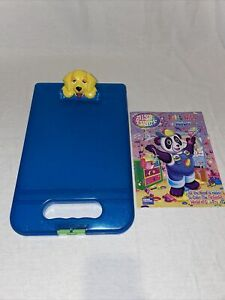 Lisa Frank Be Creative Storage Clipboard Blue Casey Dog Yellow Puppy 2012 Case